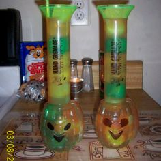 hurricanes in hand grenade cups for mardi gras