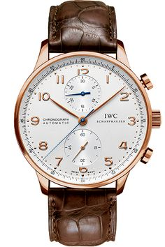IWC Portuguese Chronograph 18K Red Gold. $16400