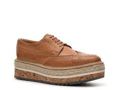 Prada Leather Flatform Oxford Casual Women's Shoes - DSW