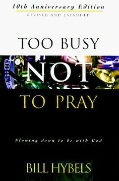 You are too busy NOT to read this book! It has changed my life :)