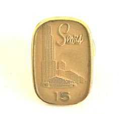 Vintage Sears Leavens 15 Year Service Award Pin One Tenth 10k Gold Filled 10k Gold Service Awards Gold Filled