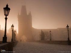 Утро на Карловом мосту в Праге. Фотограф: Jaroslav Zakravsky.