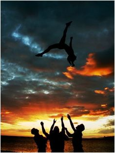 Cheerleading...on the outside, I'm older, on the inside I'm still 16! Cheerleading never gets old!