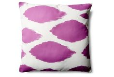 Ikat 20x20 Outdoor Pillow, Orchid