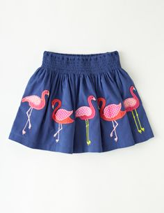 Mini Boden Fun Appliqué Skirt (Toddler Girls) available at Fashion Kids, Little Girl Fashion, Little Girl Dresses, Toddler Fashion, Girls Dresses, Mini Boden, Baby Outfits, Kids Outfits, Cute Outfits