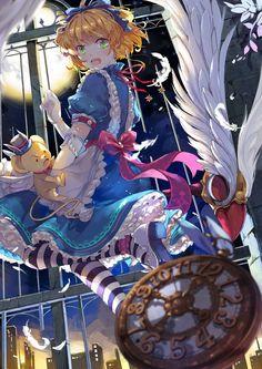 Sakura in wonderland Sakura Kinomoto, Syaoran, Sakura Sakura, Manga Anime, Anime Art, Sakura Card Captor, Anime Amino, Tamako Love Story, Hokusai