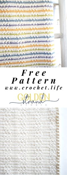 Free Wundran Crochet Baby Blanket Pattern with 2 Styles Manta Crochet, Knit Or Crochet, Crochet Baby, Free Crochet, Afghan Crochet Patterns, Knitting Patterns, Arm Knitting, Crochet Afghans, Crochet Blankets
