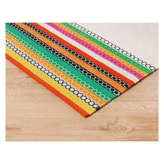 ALICE Small natural and multi-coloured stripe flat weave rug 120 x 180cm | Buy now at Habitat UK