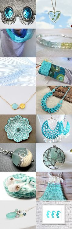 Everything Aqua ~ Summer Gift Guide ~ Team 7 Weekend Treasury by Kathy Carroll on Etsy--Pinned with TreasuryPin.com #Estyhandmade #giftideas #springfinds