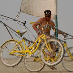 The Sail Bike, a two person sailing bicycle by Cleveland Motley
