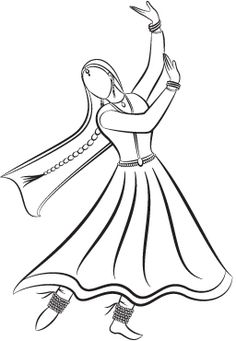 28 Ideas for dancing drawings kathak Art Drawings For Kids, Art Drawings Sketches Simple, Easy Drawings, Dance Paintings, Indian Art Paintings, Kathak Costume, Abstract Pencil Drawings, Pencil Sketching, Indian Drawing
