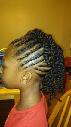Little Black Girl Natural Hair Mohawk Protective Style