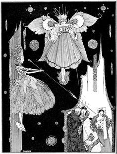Illustration in The fairy tales of Charles Perrault, 1628-1703; Clarke, Harry, 1889-1931, illustrator. London: Harrap (1922)-сборник сказок-