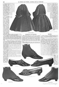 1862 La Mode Illustree. Shoes and boots.