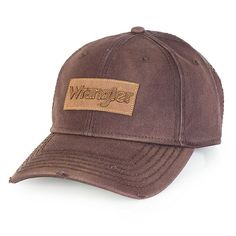 Wrangler Men's Distressed Cap::OneSize (Size: One Size) Brown