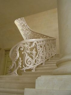 ornate balustrade painted out the same colour.