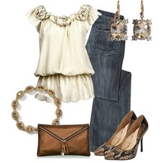 Estilo Casual Chic, created by outfits-de-moda2 on Polyvore