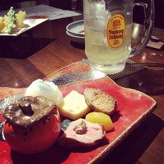 昨日は美味しい懐石料理食べて温泉バタンキュー