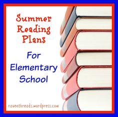 Summer Reading Plans for Elementary School~ Raventhreads