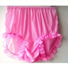 17 color Sissy Pink Vintage Granny Full Briefs Panties Women Silky Sheer Nylon Knickers Undies Lingerie Hot Pink Lacy Legs Lace Trimmed Pink Lingerie, Pretty Lingerie, Vintage Lingerie, Vintage Underwear, Lingerie Drawer, Nylons, Baby Doll Pajamas, Dresser, Granny Panties