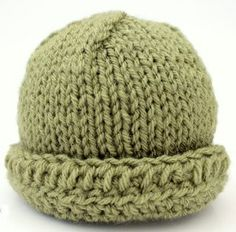 Blank Canvas Baby Hat | AllFreeKnitting.com