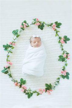 Newborn Flower Wreath Tammy Michelle Photography