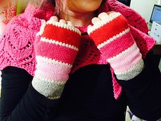 These mitts are the perfect way to use Holst Garn's lovely Shade Bags! Värikartta - Color Chart Mitts by Heidi Alande