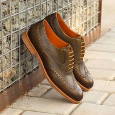 Also known as a wingtip, the Full Brogue is easily identifiable as one of the most classic pairs of dress shoes on the market. Featuring a brogue pattern along the sides as well as the toe cap, everyone needs a Full Brogue in their shoe closet. Custom Made Shoes, Custom Design Shoes, Calf Leather, Leather Shoes, Red Leather, Shoe Closet, Luxury Shoes, Brogues, Your Shoes