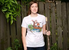 """Okay, I may actually need this.   This pice became a bit of a controversy because obviously it's a Calvin and Hobbes/Hobbit mash-up. But let's look at it as a homage and not copyright infringement.  """"Halfling and Wizard"""" - Threadless.com"""