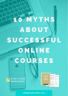 10 Myths About Successful Online Courses from Andrea Bolder Business Tips, Online Business, Business Entrepreneur, Importance Of Time Management, Blogger Tips, Public Speaking, Make Money Blogging, Blogging Ideas, Blogging For Beginners