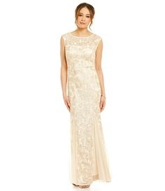 534e80dd17c Alex Evenings Cap-Sleeve Embroidered Gown