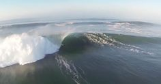2014, August : Hurricane Marie lit California up with surf unlike any seen in years. Video - aerial footage above Newport Point, California, by Adam Guy