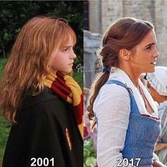 """1,574 Likes, 4 Comments - Priscilla   The Fan Empire (@thefanempire) on Instagram: """"2001 Emma Watson vs 2017 Emma Watson  ____ Our April Package Theme: #TaleAsOldAsTime   is…"""""""