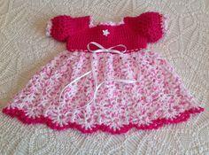 Newborn to 3 months Crochet Baby Dress Tutti by JeansNeedles
