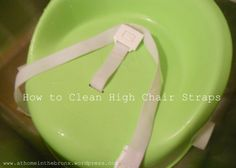 This really works to get the stains off of your high chair straps! Why didn't I look this up sooner?