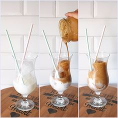 Frappuccino, Smoothie Drinks, Hurricane Glass, Iced Coffee, Latte, Alcoholic Drinks, Food And Drink, Shake, Vegan