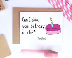 Vulgar birthday cards funny birthday card dirty birthday card y. Birthday Surprises For Him, Birthday Present For Boyfriend, Birthday Presents For Him, Bff Birthday Gift, Birthday Card Sayings, Birthday For Him, Presents For Boyfriend, Husband Birthday, Funny Birthday Cards