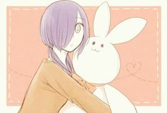 Touka and rabbit Kaneki...again