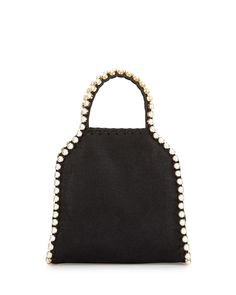Stella McCartney  Falabella Pearly-Trim Tiny Tote Bag