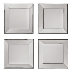 OSP Designs Time Square Wall Mirror 4 Piece Set - 32W x 32H in. | from hayneedle.com
