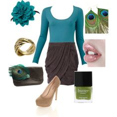Sexy peacock look for fall!