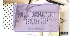 This is my February setup video in my Bullet Journal this month I've done a Black History Month theme with lots of florals included in my weeklies. Bullet Journal 101, Bullet Journel, Need To Know, February, Bujo, Journey, Youtube, The Journey, Youtubers