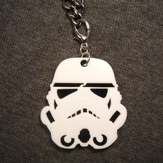Storm Trooper Pendant Laser Cut Acrylic Necklace by HoraEffect