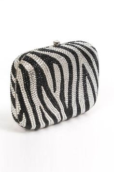 Magid Handbags Box Clutch In Zebra