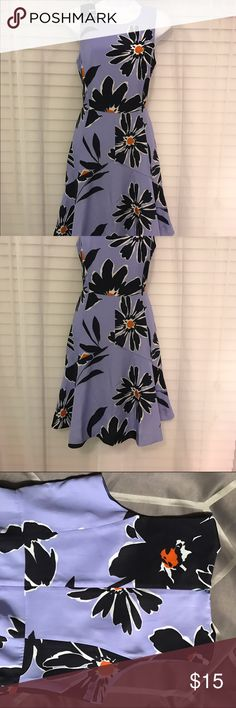 J Crew floral sleeveless dress Blue floral springy dress. Size 6. Easter is right around the corner! J Crew Dresses