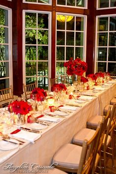 Royal Red in Central Park Wedding Reception Photos on WeddingWire