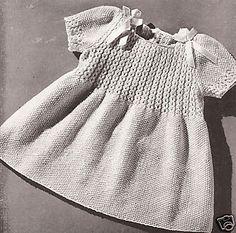 Vintage Knitting Pattern to Make Smocked Toddler Coat Hat Dress Knitsmockingset for sale online Baby Knitting Patterns, Toddler Dress Patterns, Knitting For Kids, Stitch Patterns, Knitting Tutorials, Crochet Patterns, Knit Baby Dress, Knitted Baby Clothes, Fashion Kids
