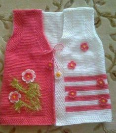 Tunisian Clothing Baby Cardigan Models (On request) – Emine – Join the world of pin Pullover Design, Handgestrickte Pullover, Sweater Design, Baby Outfits, Kids Outfits, Baby Cardigan, Baby Knitting Patterns, Baby Patterns, Vest Pattern
