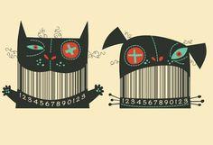 Barcode Illustration by Steve Simpsons Art And Illustration, Illustrations And Posters, Animal Illustrations, Barcode Art, Barcode Design, Web Design, Design Art, Graffiti, Doodle