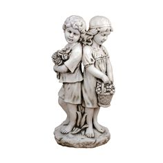 EUROPA LEISURE SOLSTICE SCULPTURES XST/992 Jack and Jill Standing Statue - Antique Stone